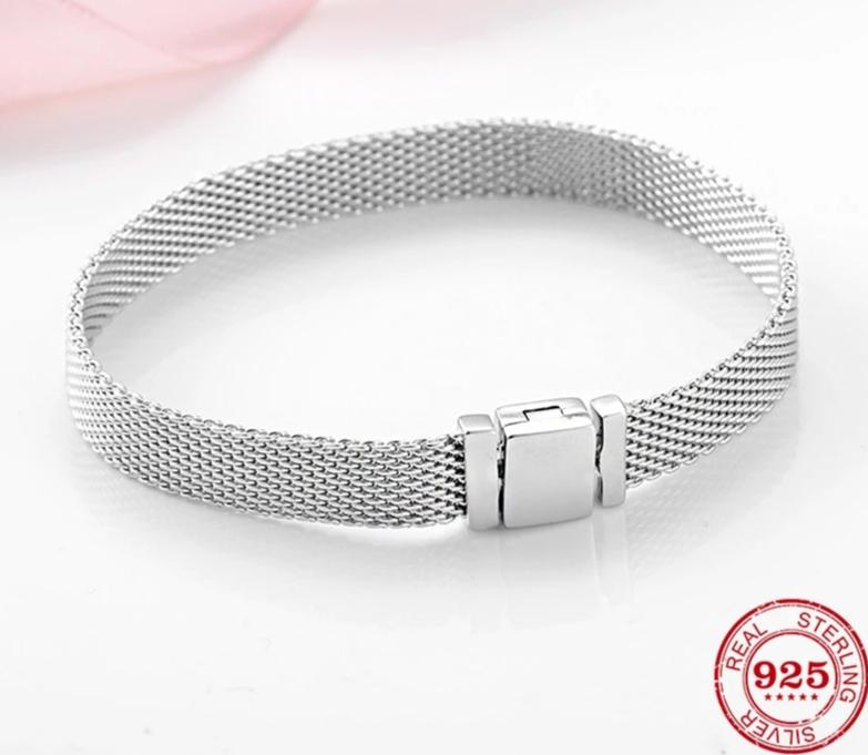 High Quality 925 Sterling Silver Fashion Clip Beads Bracelets for Women - brilliantshop.site