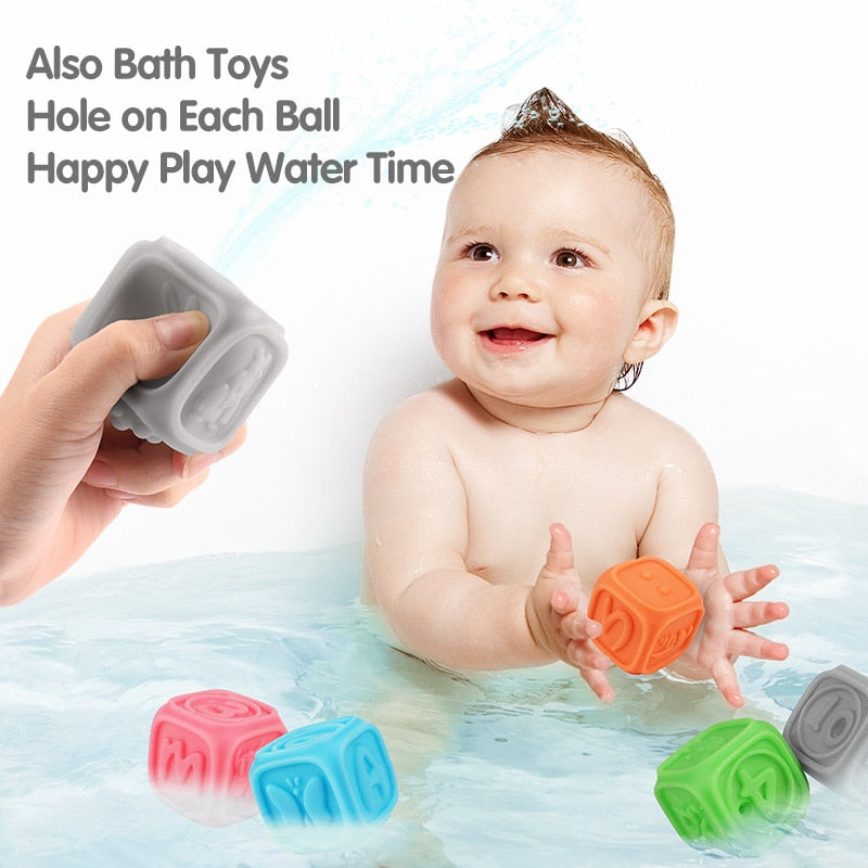 Building blocks squeezable and teethers