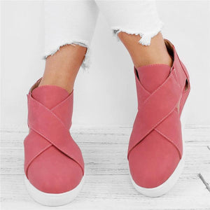 Fashion pure color side hollow single shoes