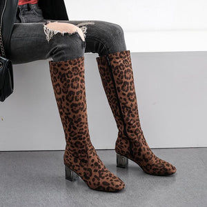 Simple Women Mid Tube Round Toe Boots