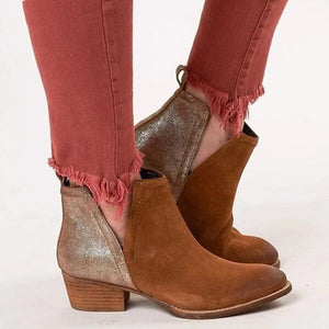 Women's thick heel casual booties