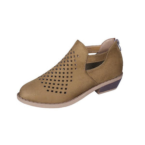 Women's Personality Hollow Leather Comfortable Casual Shoes