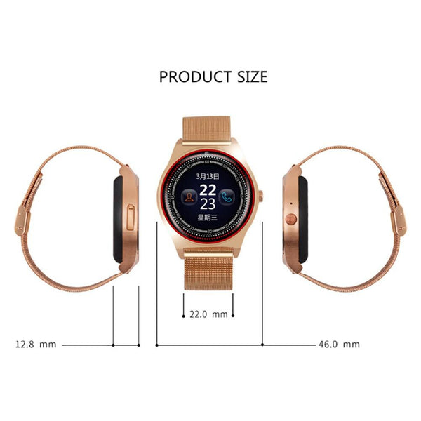 Smart Watch Health Monitoring Smart Reminder Smartwatch Stainless Steel Strap Support Card Wristband Watch