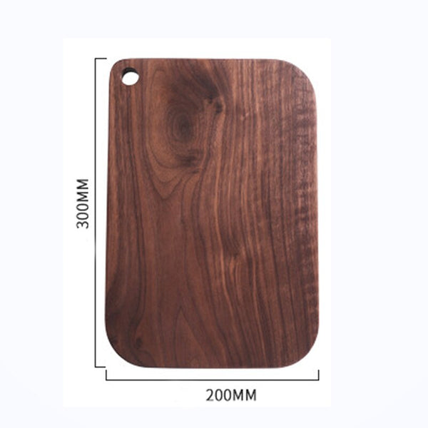[Video]1pcRSCHEF Black Walnut Chopping Blocks Kitchen Wood Food Plate Wooden Pizza Sushi Bread Whole Tray Cutting Board No Paint