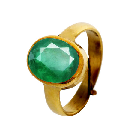 Virgo Sign- Emerald Ring