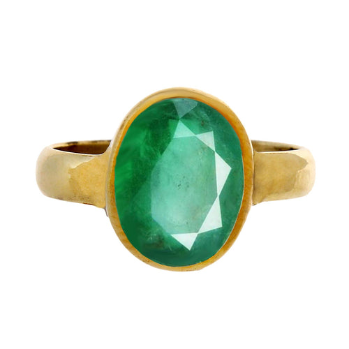 Gemini Sign - Emerald Ring