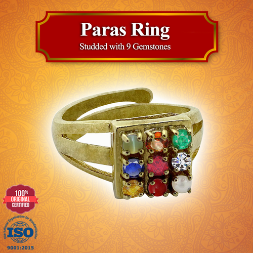 Paras Ring - Studded with 9 Gemstones