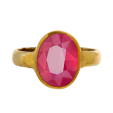 Leo Sign- Ruby Ring
