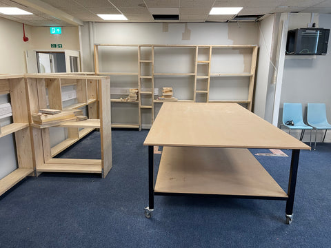 Desk and shelving image