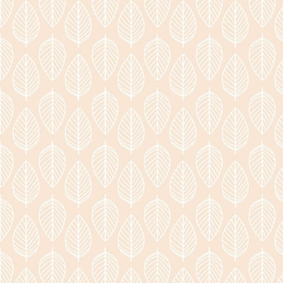 Leaf - Essentials range of fabric by Makower - Nude