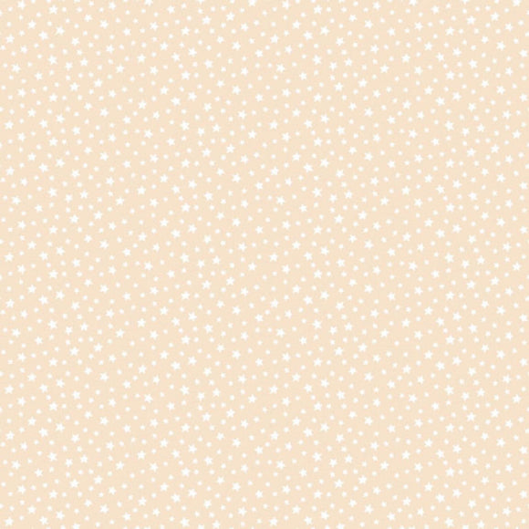 Star - Essentials range of fabric by Makower - Nude