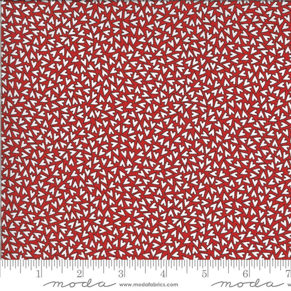 Hearts - Animal Crackers Fabric Range - By Sweetwater for Moda Fabrics - Apple Red