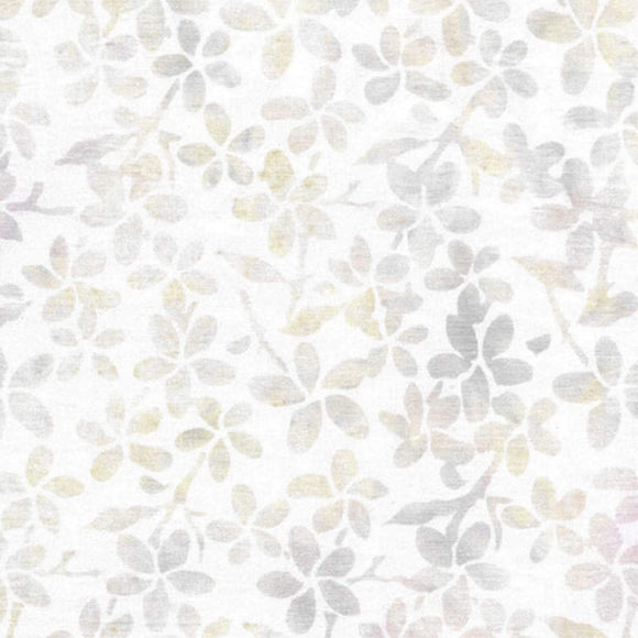 Floral - Pattern No. 112002013 - Island Batiks Fabric - White