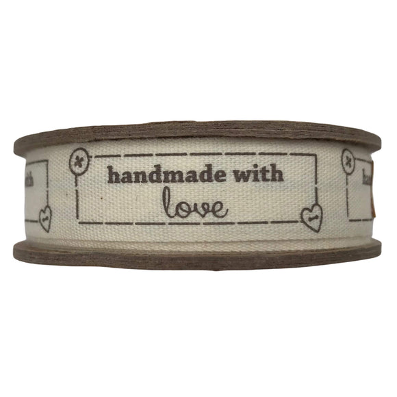 Handmade With Love Vintage Ribbon - Bowtique - Natural