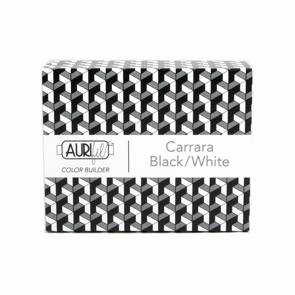 Aurifil 50's Weight - Carrara Black/White - Colour Builder Thread Collection