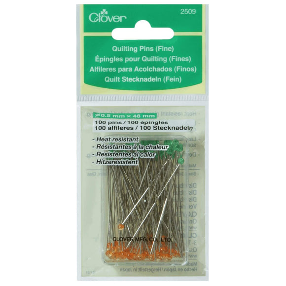 Fine Quilting Pins - Clover - 0.50 mm