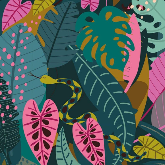 Jungle Snakes - Night Jungle Fabric Range - Dashwood Studios