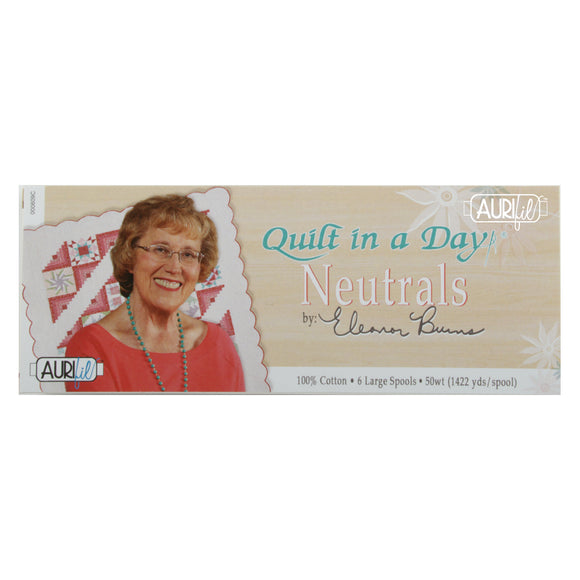 Aurifil 50's Weight - Quilt in a Day Neutrals by Eleanor Burnes - Cotton Thread Collection