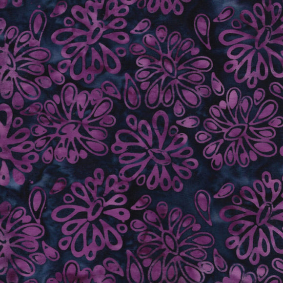 Flowers - Pattern No. 821904455 - Island Batiks Fabric - Purple