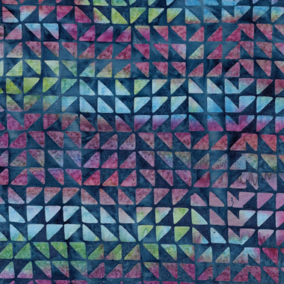 Half Square Triangles - Pattern No. 121928870 - Island Batiks Fabric - Blue
