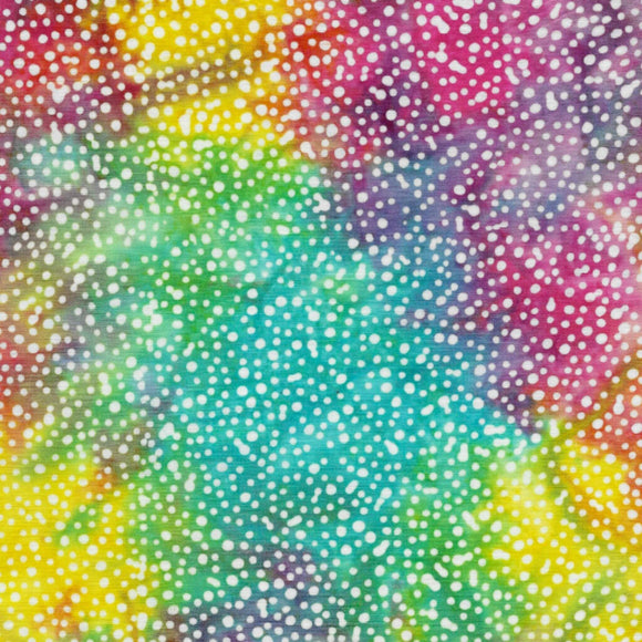 Spots - Pattern No. 121933870 - Island Batiks Fabric - Rainbow