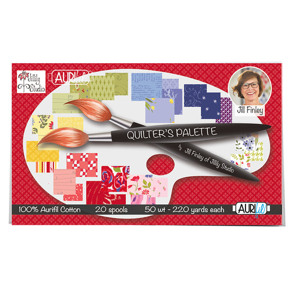 Aurifil 50's Weight - Quilters Palette by Jill Finley Cotton Thread Collection
