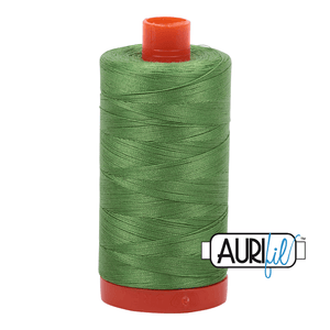 Aurifil Cotton Thread - 50's Weight - 1300 metres - Grass Green (1114)