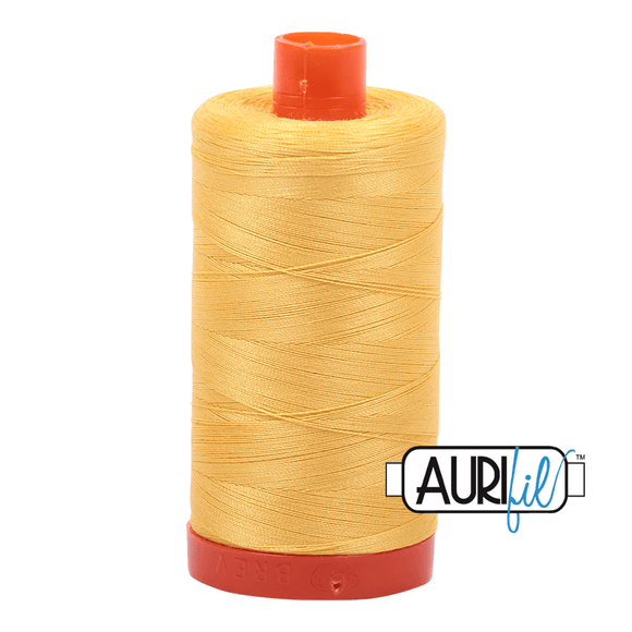 Aurifil Cotton Thread - 50's Weight - 1300 metres - Pale Yellow (1135)