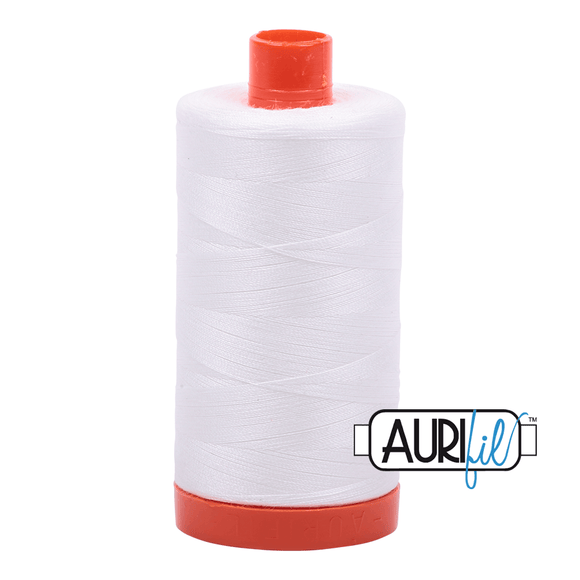 Aurifil Cotton Thread - 50's Weight - 1300 metres - Natural White (2021)