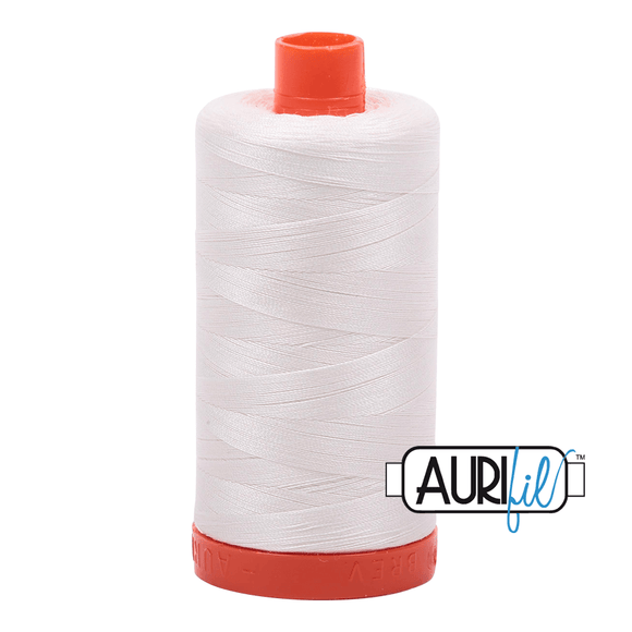 Aurifil Cotton Thread - 50's Weight - 1300 metres - Chalk (2026)