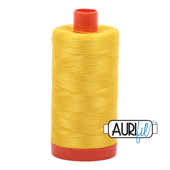 Aurifil Cotton Thread - 50's Weight - 1300 metres - Canary (2120)