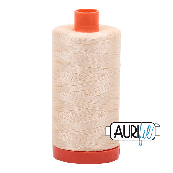 Aurifil Cotton Thread - 50's Weight - 1300 metres - Butter (2123)
