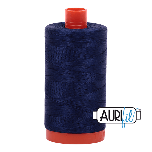 Aurifil Cotton Thread - 50's Weight - 1300 metres - Midnight (2745)