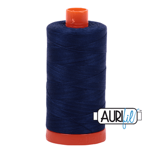 Aurifil Cotton Thread - 50's Weight - 1300 metres - Dark Navy (2784)