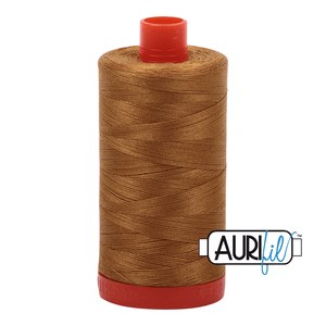 Aurifil Cotton Thread - 50's Weight - 1300 metres - Brass (2975)