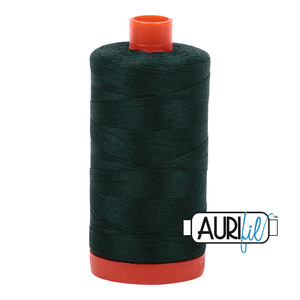 Aurifil Cotton Thread - 50's Weight - 1300 metres - Forest Green (4026)