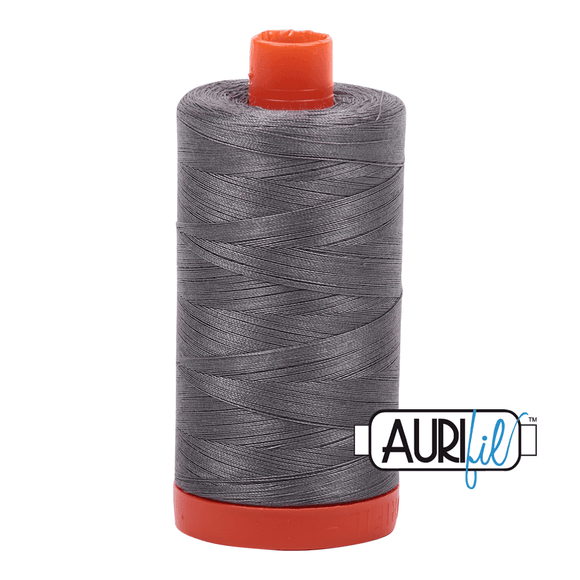Aurifil Cotton Thread - 50's Weight - 1300 metres - Grey Smoke (5004)