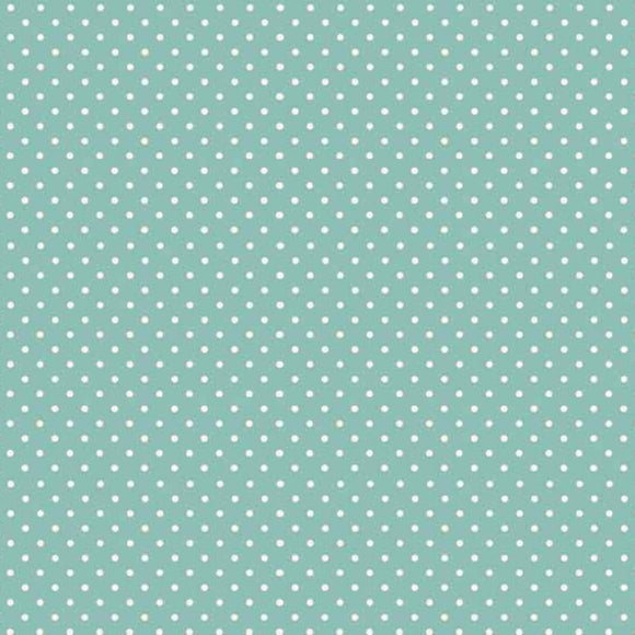 Teal - Spot On Fabric Range - Makower
