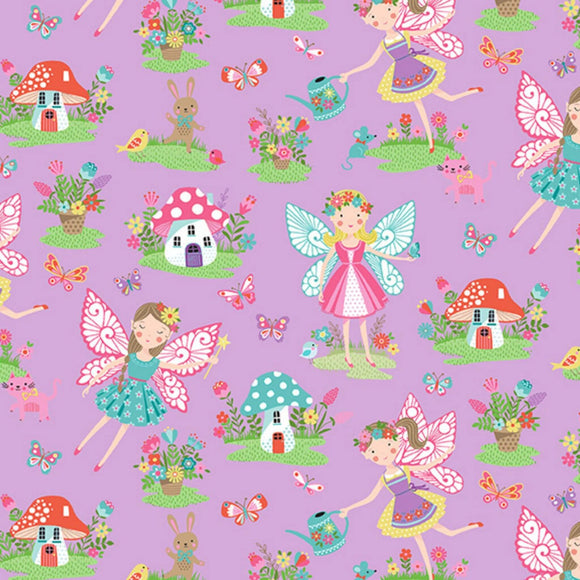 Fairies - Daydream Fabric Range - Makower - Lilac