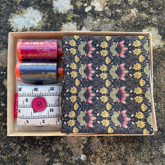 Moda and Thread Gift Box - Red and Dark Grey