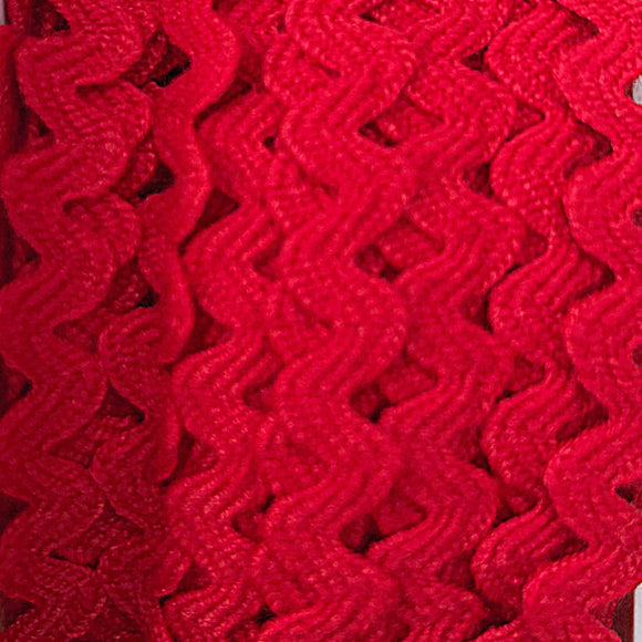 Mini Ric Rac - 6mm - Red