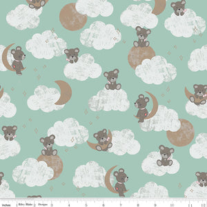 Cloud Nine Bears - Sleep Tight Fabric Range - Riley Blake Fabrics - Mint