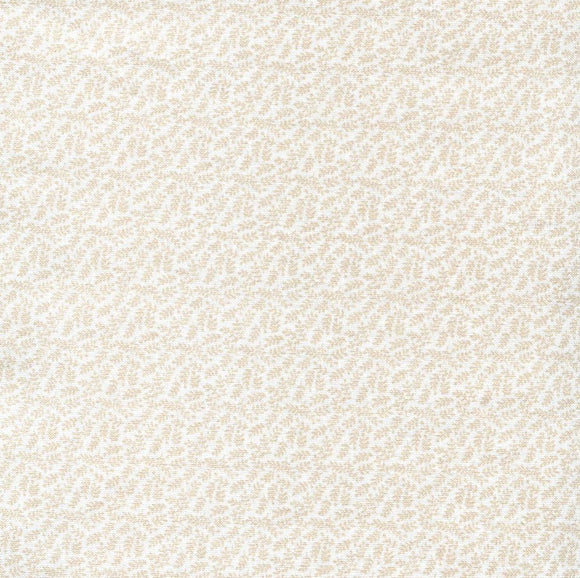 Sprigs - Classic Tone on Tone Fabric Collection - Kingfisher Fabrics - Light Brown on Off White