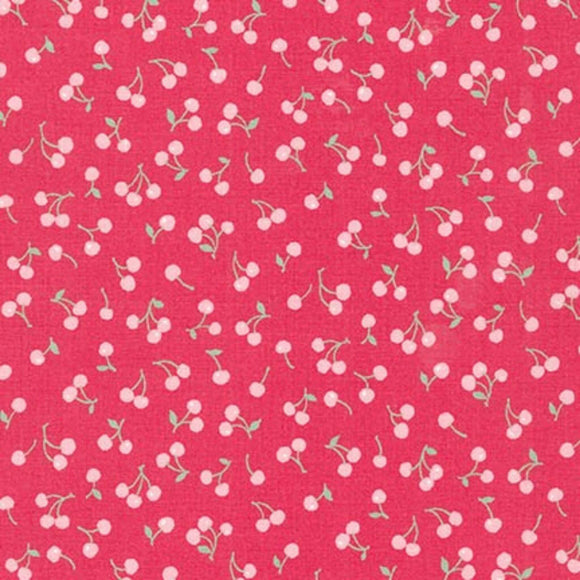 Cherries - Petite Classics Fabric Range - Sevenberry - Pink on Red