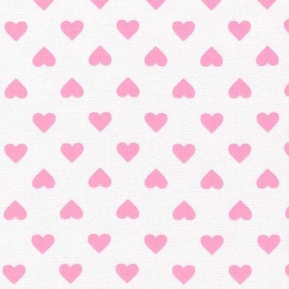 Hearts - Classics Fabric Range - Sevenberry - Pink on White