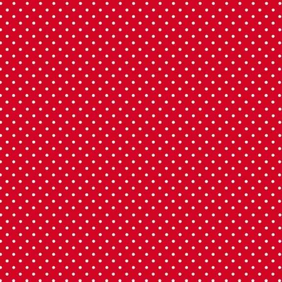 Bright Red - Spot On Fabric Range - Makower