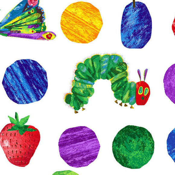 Large Fruits and Dots - The Hungry Caterpillar Fabric Range - Andover