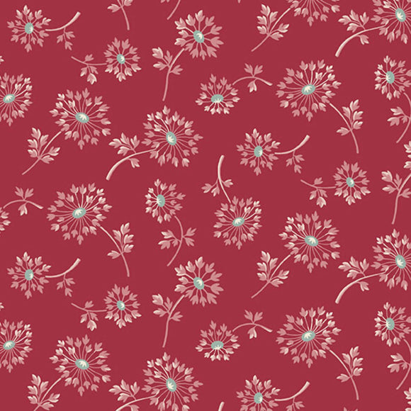 Dandelion - Super Bloom Range of Fabric by Edyta Sitar - Ruby