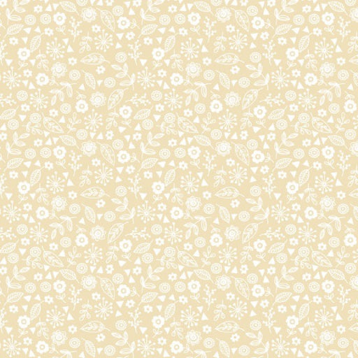 Doodle Ditzy - Essentials range of fabric by Makower - Full Cream