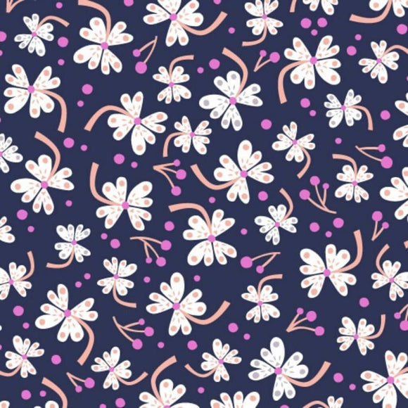 Flowers - Lost Treasures Fabric Range by Dashwood Studios - Purple